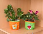 Jarní dekorace  - obaly na květináče