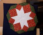 Vánoční hvězda s prošitím