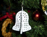 Vánoce - krajkový  zvoneček