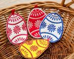 Velikonoční vajíčka z filcu
