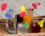 Rozlišovací ozdoby na sklenice