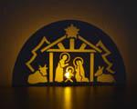 Vánoce - vyřezávaný betlém