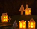 Svítící domečky