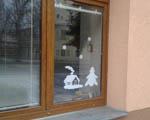 Výzdoba oken školy