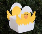 Velikonoční krabička nebo pokladnička kuřátko