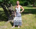Dlouhé šaty šité podle tílka