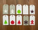 Vánoční dekorace - visačky