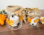 Podzimní dekorace - halloweenský svícen