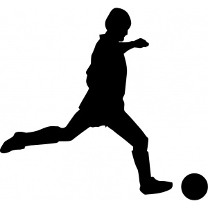 Vyřezávání vyřezávací šablona fotbalista