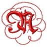 Písmeno A - gotické monogramy