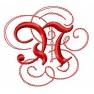 Písmeno N - gotické monogramy