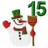 Adventní kalendář - č. 15 Sněhulák