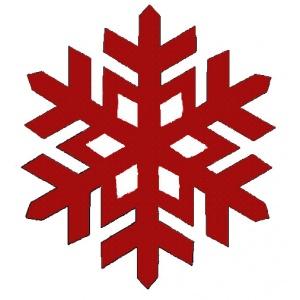 Vyšívání sněhová vločka 3 cutwork