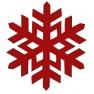 Sněhová vločka 3 Cutwork