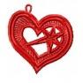 Náušnice ve tvaru srdce
