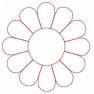 quiltovací výšivka - slunečnice