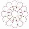 quiltovací výšivka - slunečnice plná