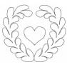 quiltovací výšivka - srdce