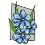 Kytka modrá