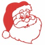 Santa jednobarevný