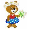 Medvěd s kytičkou