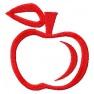 Jablko - jednobarevné