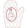 Kuchyňská rukavice - horní díl