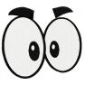 Oči 2 - výplňová výšivka